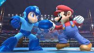 Mega Man junto a Mario SSB4 (Wii U)