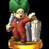 Trofeo de Dr. Wright SSB4 (3DS)