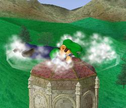 Ataque Smash hacia abajo de Luigi (2) SSBM