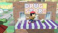 Ataque Smash hacia arriba Ness (1) SSB4 (Wii U)