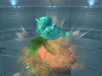 Ataque aéreo inferior Ivysaur SSBB
