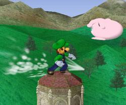 Lanzamiento delantero de Luigi (2) SSBM
