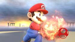 Pose de victoria hacia arriba (2) Mario SSB4 (Wii U)