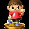 Trofeo de Aldeano SSB4 (Wii U)
