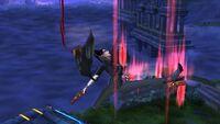 Ataque Aéreo Hacia Abajo Bayonetta SSB Wii U