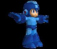 Mega Man en su Pose T modelo de Nintendo 3DS
