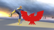Pose de victoria de Captain Falcon (1-1) SSB4 (Wii U)