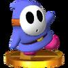 Trofeo de Shy Guy azul SSB4 (3DS)