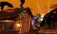 Yoshi, Toon Link y Mario en la Jungla Jocosa SSB4 (3DS)