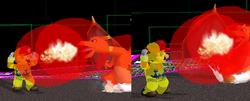 Areas de colision en 3D SSBM