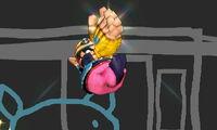 Ataque aéreo hacia arriba de Wario SSB4 (3DS)