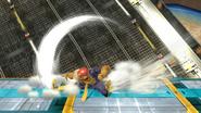 Ataque de recuperación boca abajo de Captain Falcon (2) SSB4 (Wii U)