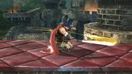 Ataque de recuperación boca arriba de Ike (1) SSB4 (Wii U)