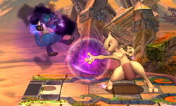 Ataque normal Mewtwo (3) SSB4 (3DS)