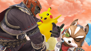 Créditos Modo Leyendas de la lucha Pikachu SSB4 (Wii U)