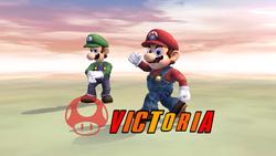 Pose de victoria hacia abajo (3) Mario SSBB