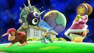 Rey DeDeDe lanzando un Gordo en la Galaxia Mario SSB4 (Wii U)