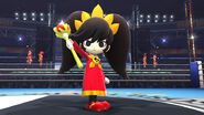 Ashley en el Ring de boxeo SSB4 (Wii U)