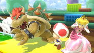 Bowser y Peach en 3D Land SSBU