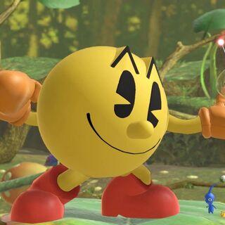 Pac-Man efectuando una de sus <a href=