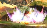 Lanzamiento hacia abajo Shulk SSB4 (3DS)