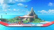 Aldeano y Olimar en Islas Wuhu SSB4 (Wii U)