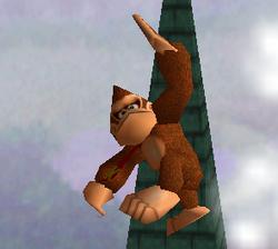 Ataque aéreo hacia arriba de Donkey Kong SSB
