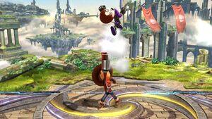 Lanzamiento hacia arriba Tirador Mii SSB4 Wii U