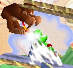 Lanzamiento trasero de Yoshi SSB