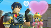 Marth y Peach en Skyloft - (SSB. for Wii U)
