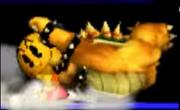 Pac-Man Usando Su Lanzamiento Trasero Contra Bowser SSB 3DS