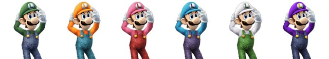 Paleta de colores de Luigi SSBB