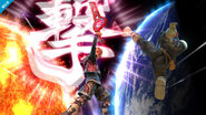 Shulk y Captain Falcon en Destino Final SSB4 (Wii U)