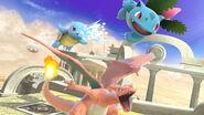 Squirtle, Ivysaur y Charizard en el Reino del Cielo SSBU