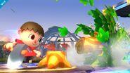 Aldeano atacando (4) SSB4 (Wii U)