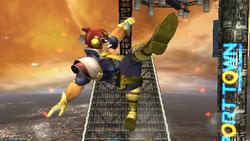 Ataque Smash hacia arriba Captain Falcon SSBB (1)