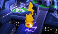 Ataque aéreo inferior Pikachu SSB4 (3DS)