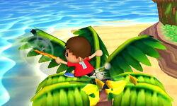 Ataque de recuperación boca arriba Aldeano (1) SSB4 (3DS)