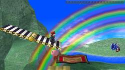 Plataforma giratoria de Rainbow Ride SSBB