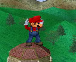 Pose de espera de Mario SSBM