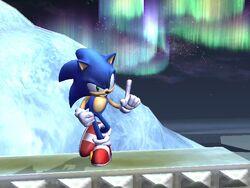 Pose de espera de Sonic