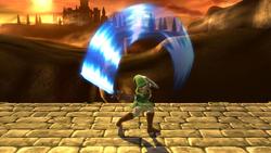 Ataque Smash superior de Link (2) SSB4 (Wii U)