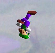 Ataque aéreo hacia arriba de Luigi SSB