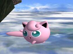 Ataque aéreo hacia atrás Jigglypuff SSBB