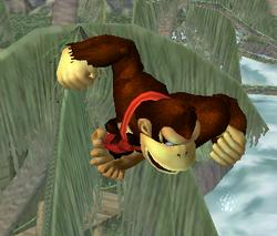 Ataque aéreo normal de Donkey Kong SSBM