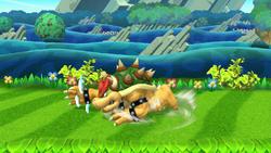 Ataque de recuperación de cara al suelo de Bowser (1) SSB4 (Wii U)