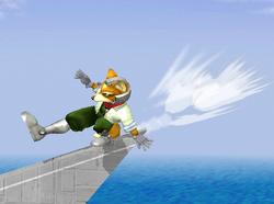 Ataque de recuperación desde el borde 100% de Fox (2) SSBM