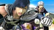 Chrom de cerca en el Reino del Cielo SSB4 (Wii U)