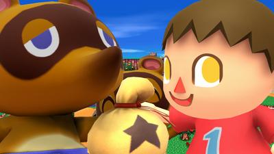 Créditos Modo Leyendas de la lucha Aldeano SSB4 (Wii U)