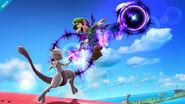 Mewtwo y Luigi en Pilotwings SSB4 (Wii U)